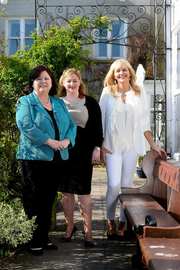 Mary Harney, Dearbhail McDonald and Miriam O'Callaghan at the Women in Media conference