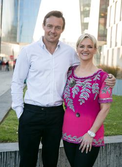 James Duigan and Melanie Morris Editor in Chief Image Magazine pictured at IMAGE Magazine's 'An Evening with James Duigan' in the Marker Hotel. Photo by Roger Kenny