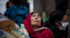 Displaced Families in Kathmandu, Nepal after the earthquake. Photo: Mark Condren