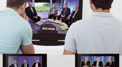 RTE's sport panels for the three most popular codes - GAA, soccer and rugby