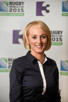 Sinead Kissane, who is part of the TV3 team for this year's rugby World Cup