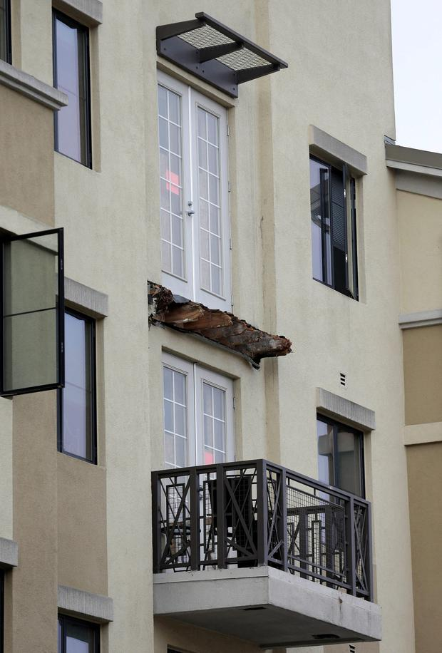 The balcony in Berkeley that collapsed