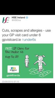 The controversial tweet that was later deleted by the HSE