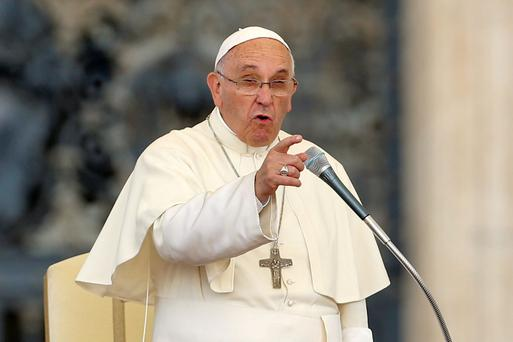 ON A MISSION: Pope Francis has hinted that divorce within the Catholic Church may be possible after separation speech