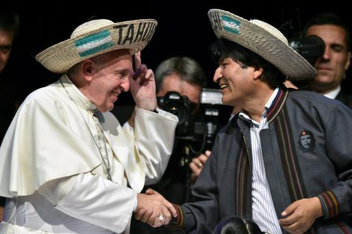 Pope Francis and Evo Morales