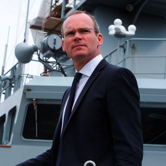 Defence Minister Simon Coveney