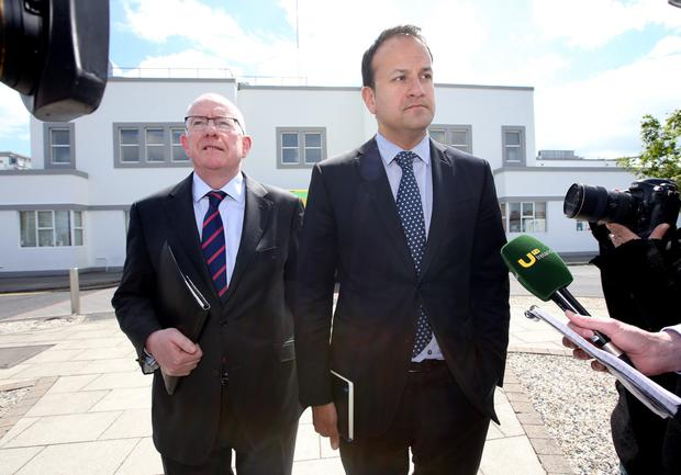 Charlie Flanagan and Leo Varadkar