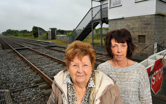 Mary O'Donoghue and Terri O'Gorman pictured at the former Buttevant train station, Co Cork. Pic Daragh Mc Sweeney/Provision