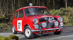 The Mini Cooper that won the Monte Carlo Rally