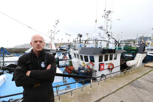 Fisherman David Price, who will be affected by the closing of the ice plant in Howth