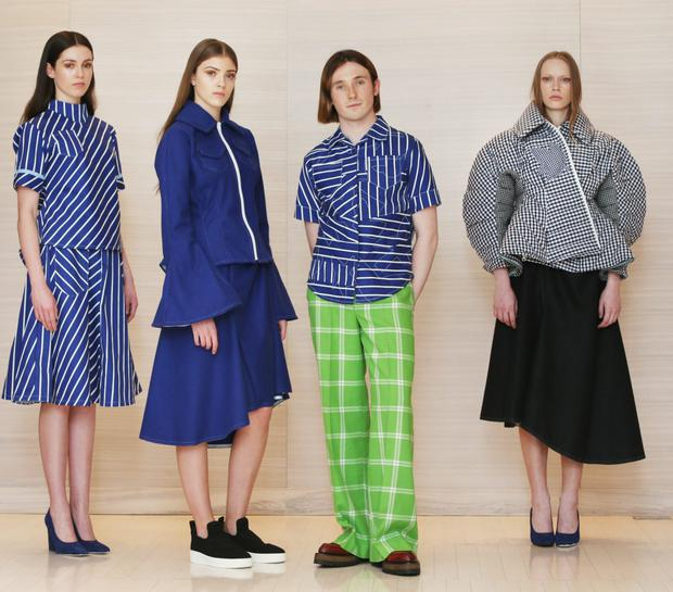 Designer Richard Malone is the latest Irish designer to be chosen for the prestigious Fashion East initiative. Some items from his AW15 collection are on sale at Brown Thomas as part of the CREATE initiative during the Year of Design ID15. Photos: Leon Farrell