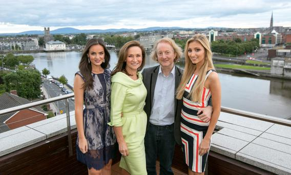 Rosin Cahill, Miss Limerick North, Cecila Holman Lee, Sunday Independent Reporter Barry Egan & Nollaig Maloney,