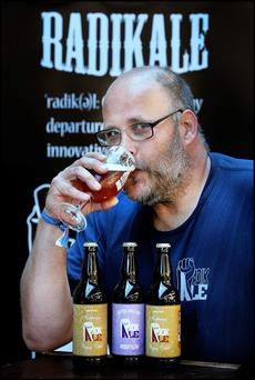 Soaking up the atmosphere' at the Irish Craft Beer Festival taking place this weekend at the RDS was Alain Dekoster , brewer and owner of 'Radikale' which is only three months old