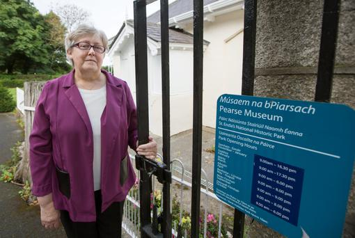 Legacy: Phil Lynch at the Gate Lodge, St Enda's, on Grange Road, Rathfarnham, where she was born. Photo: Fergal Philips.