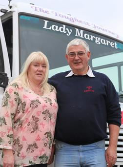 Lynn and Eamon McDevitt of the Donegal to Galway cancer bus Photo: North West Newspix