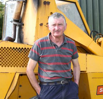 Farmer Morgan Murphy (54), Garryspillane, Co Limerick who had half his tongue removed due to cancer. Photo: Liam Burke