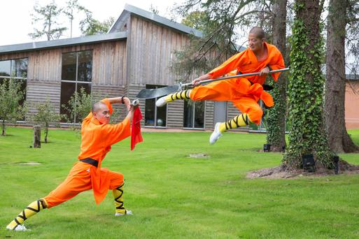 Authentic Shaolin Masters Master Zheng and Master Jinlei Wang arrived to Ireland over the weekend from the Henan Province in China for a three month residency at Monart Destination Spa in Wexford where they will showcase of Shaolin Culture. Shaolin Masters served the people of China as warriors and Buddhist Monks for many centuries earning respect for their discipline, bravery, adaptability and action oriented approach