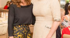 Dr Rhona Mahony and Claire Byrne at Tiffaney Ireland Funds Lunch. Photo: Anthony Woods.