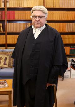 Justice, Paul Carney pictured before his final sitting as he retires from the High Court. Picture credit; Damien Eagers 24/4/2015