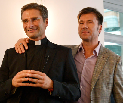 Monsignor Krzysztof Olaf Charamsa and his partner Edouard
