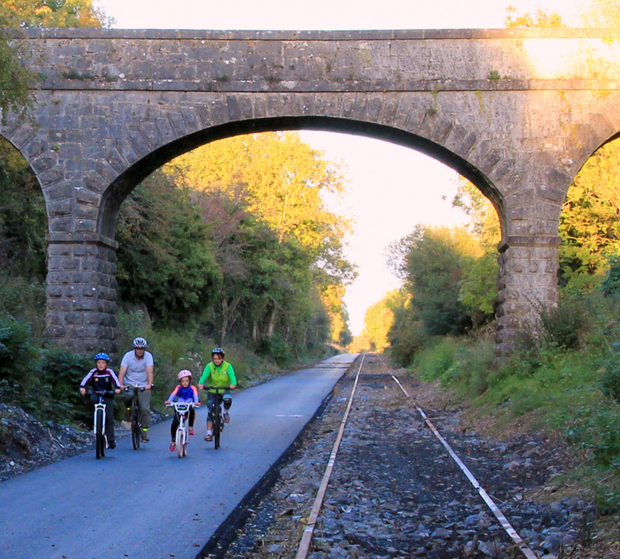 On yer bike: The Galway to Dublin cycleway offers peace and tranquillity and is ideal for families