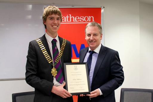 Paul Williams with James Green, auditor of the UCD law Society