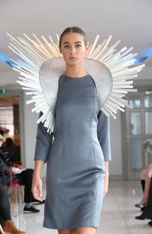 A design from Aisling Ahern at the Council of Irish Fashion Designers autumn-winter collection in Dublin