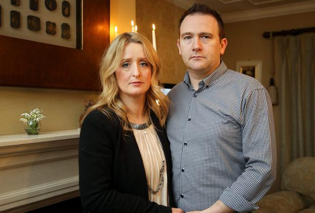Roisin and Mark Molloy at their home near Killeagh, Co Offaly