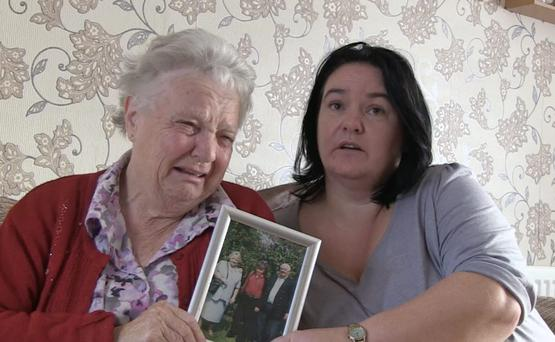 Lena Clarke (77) and Geraldine Olliffe - grandmother and aunt of - Elizabeth Clarke, from Portrane, Co Dublin, who was reported missing in November 2013
