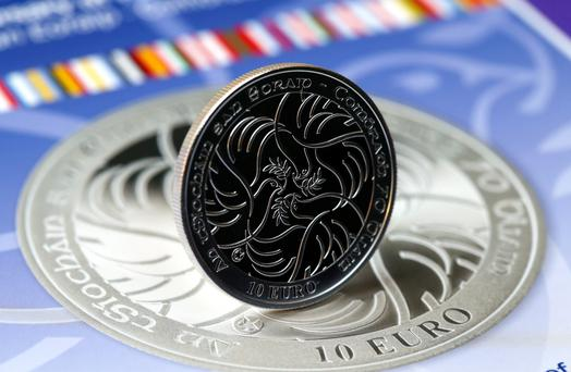 Launch of the Central Bank's coin to commemorate the 70th Anniversary of Peace in Europe