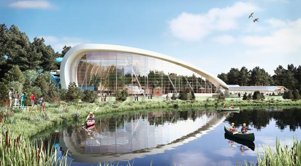 An artist's impression of the 'Subtropical Swimming Paradise' at Center Parcs in Longford