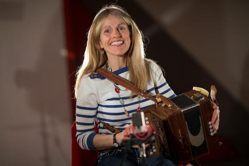 On song: Sharon Shannon during her session at Windmill Lane Recording Studios. Photo: Fergal Phillips.