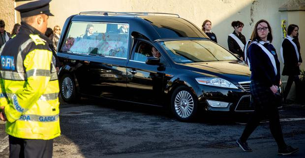 The funeral of Natalie McGuinness at St James's Church, Easkey, Co Sligo
