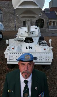 United Nations veteran Cpl. Ronnie Daly from Dublin, who served four tours in Lebanon
