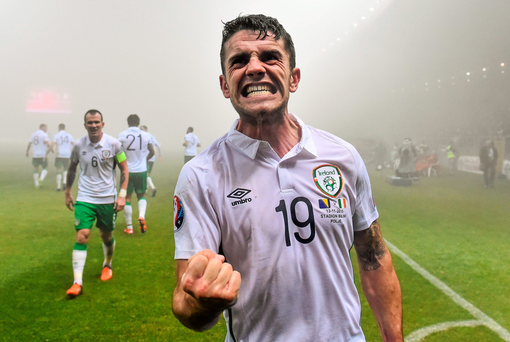 HAVEN'T THE FOGGIEST: Ireland's goal hero Robbie Brady