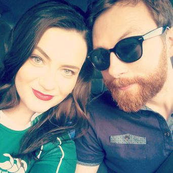 Trauma: Katie Healy and boyfriend David Nolan, who were lucky to escape the Paris concert massacre with their lives