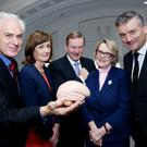 Left to right: Ian Robertson, Professor of Psychology, Academic lead of the Global Brain Health Institute, Mary Sutton, Atlantic Philanthropies Country Director and Enda Kenny, An Taoiseach, Helen Rochford Brennan, Chairperson of the Irish Dementia Working