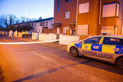Gardai at the scene in Navan, Co Meath