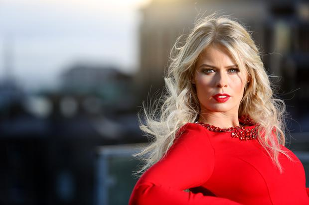 RED HOT: Model Karena Graham teamed up with rugger ace Shane Byrne for charity event.