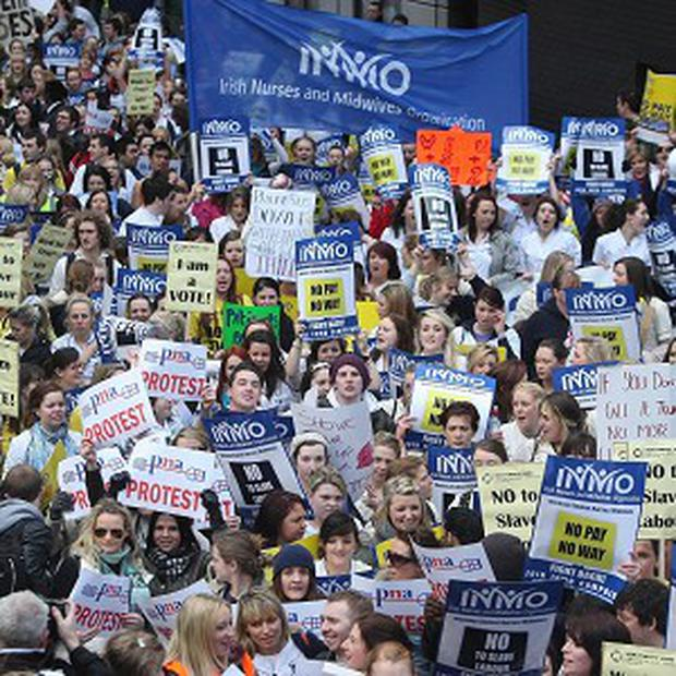 The result of the nationwide ballot by members of the INMO is in protest at levels of overcrowding, amid growing concern about patient care and staff welfare