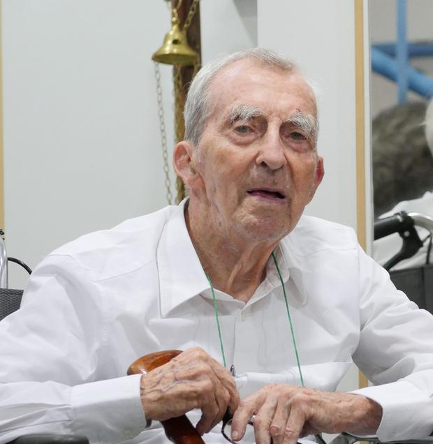 Scattered life: Fr Joseph Mallin at his home in Wah Yan College, Hong Kong. Photo: Niamh Heery, SwanSong Films.