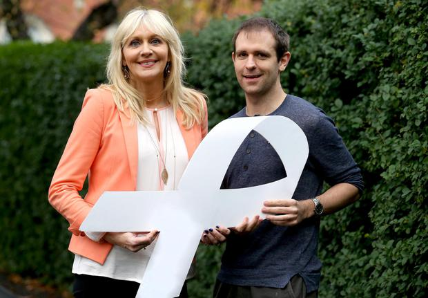 Miriam O'Callaghan and Tom Meagher, National White Ribbon Advocate