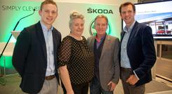 Ciaran Lenehan, Vanessa Clarke, Irish Independent Special Correspondent Paul Williams, and Farming Independent Deputy Editor Darragh McCullough at the first event in a series of 'Nation Talks' events in Sheehy Motors, Naas