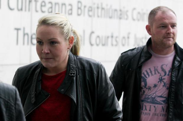 Lynsey Ivory (27) and David Ward (30) of The Beeches, Clonshaugh, Priorswood, Dublin, appearing at court yesterday