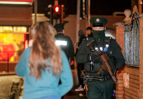 Armed Police at the scene of a shooting