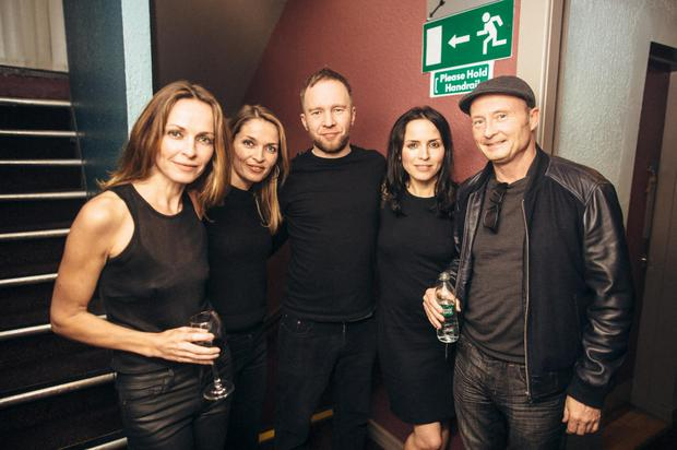 Jim Corr with his sisters, Andrea, Sharon and Caroline