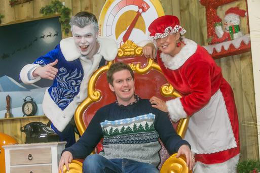 James Kehoe with Jack Frost and Mrs Claus at Rathwood in Co Carlow