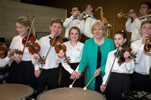 Arts Minister Heather Humphreys at rehearsals by the Cross-Border Orchestra for the 1916 Peace Proms concert