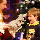 Christopher Sharpe (6) from Stepaside, Dublin, on the Late Late Toy Show