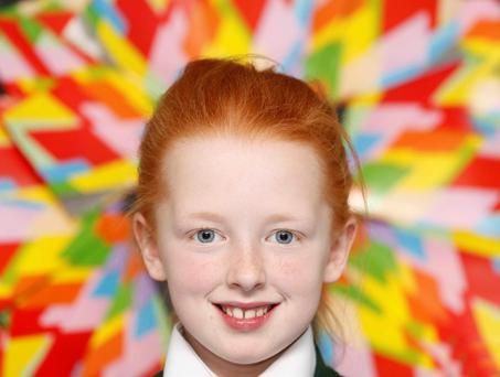 Tori O'Connor (10) from St Mary Help of Christians School at the opening of the Ludo exhibition at Cabra Library. The exhibition runs until December18. Photo: Sasko Lazarov/Photocall Ireland